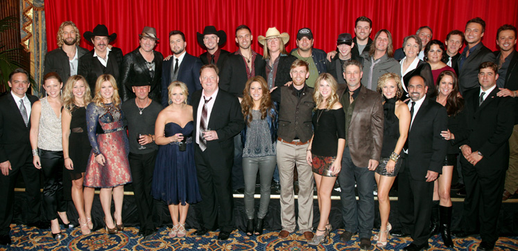 Sony Music Nashville celebrated after following Thursday's
