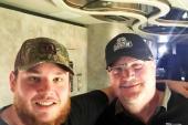 Luke Combs Hangs With iHeartMedia's Gregg Swedberg