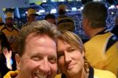 Keith Urban And 'NASH Nights Live' Host Shawn Parr Celebrate Preds Victory