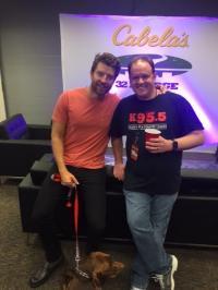 Brett Eldredge (And His Pup Edgar) Hang Backstage With KWEN/Tulsa