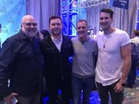 Scotty McCreery, Russell Dickerson Attend 'CMA Awards' Radio Remotes