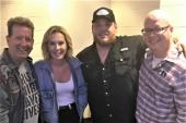Luke Combs Hangs With Radio Friends