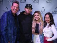 Brantley Gilbert, Lindsay Ell Hang At 'CMA Awards' Radio Remotes