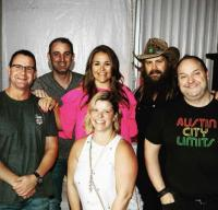 Chris Stapleton Hangs With Country Radio Friends
