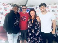 Jimmie Allen, Morgan Evans Hang At 'WMZQ Fest'