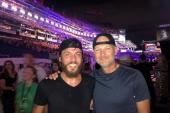 Chris Janson Poses With Rod Phillips At CMA Fest