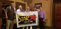 Columbus' Star 107.9 sign on celebration!
