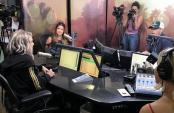 Fergie Visits Ryan Seacrest